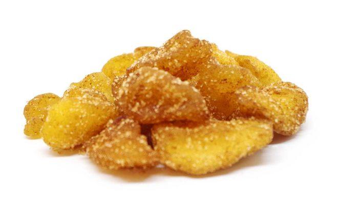 Apfelstücke mit Zimt und Zucker