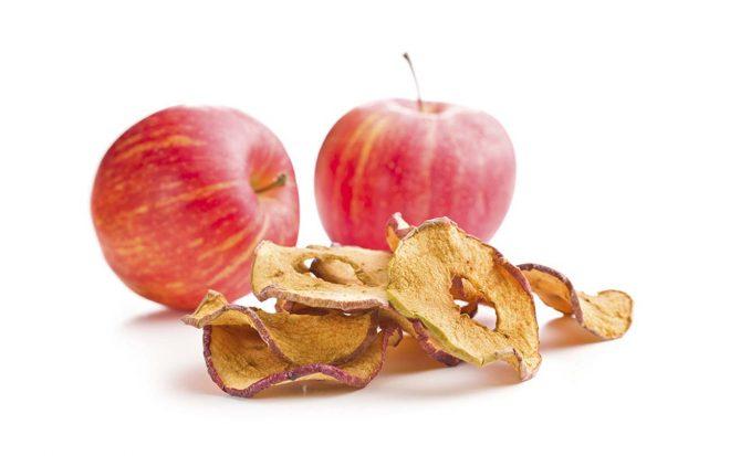 getrocknete Apfel-Ringe von nussundgenuss