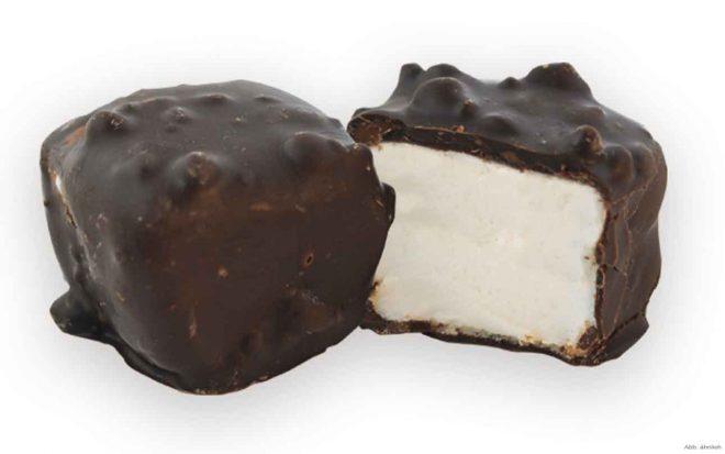Marshmallow mit Zartbitterschokolade Nussungenuss