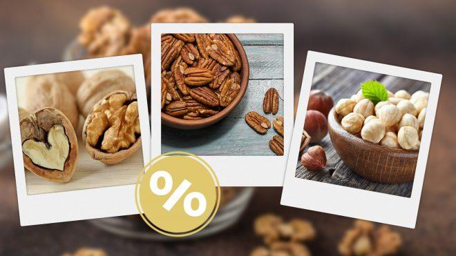 Nüsse in Schalen