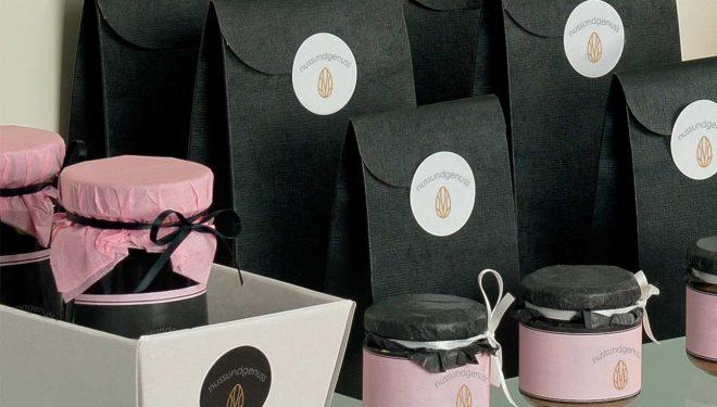 Geschenkverpackungen Mockup Tüten nussundgenuss