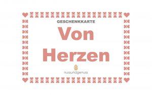 """Geschenkkarte """"Von Herzen"""""""