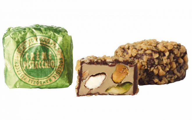Zartbitterschokolade mir Pistaziencreme