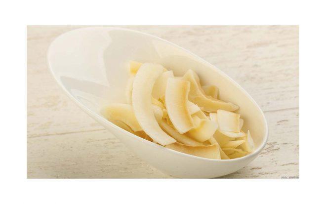 Kokosnuss Chips in Schale von nussundgenuss