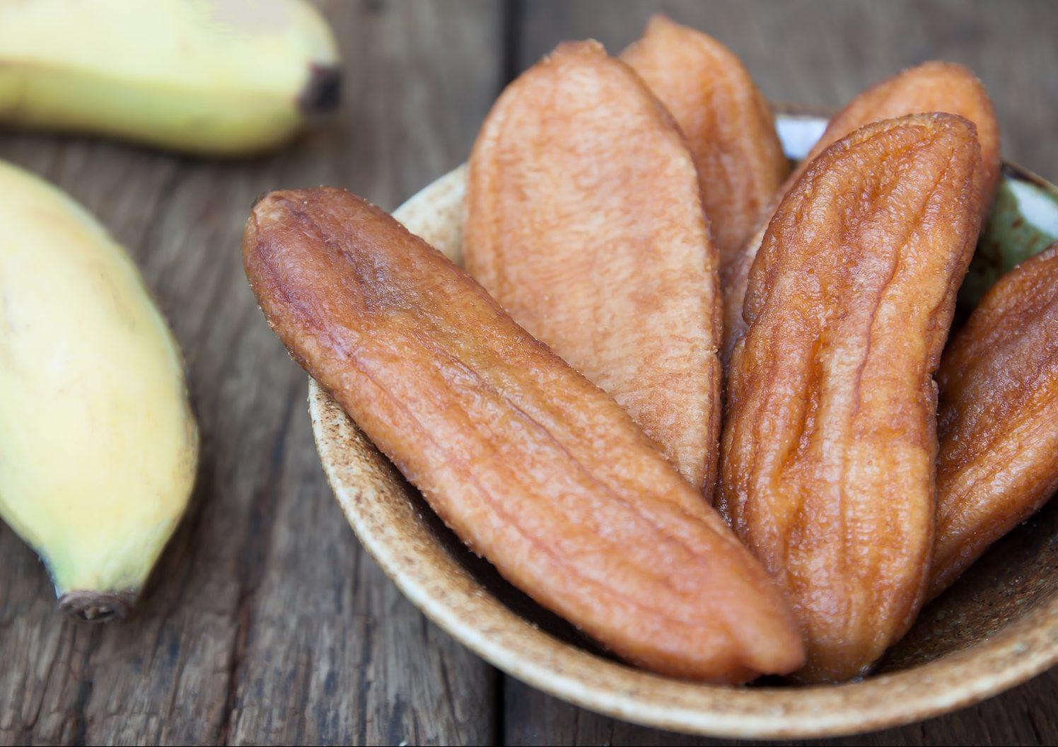 getrocknete Bananen Trockenfrüchte von nussundgenuss