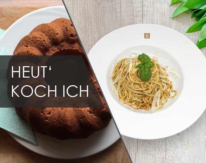 Kuchen und Spaghetti