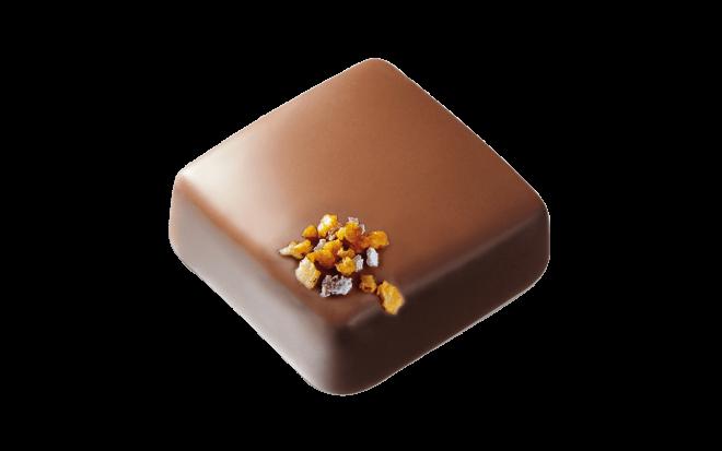 Schokolade mit Kokosnuss-Ganache und Ananasgeschmack