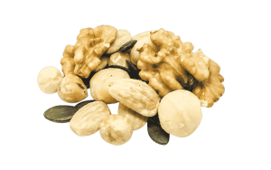"""Nussmischung """"High End"""" Macadamia, Haselnüsse, Walnüsse, Kürbiskerne und Mandelkerne"""