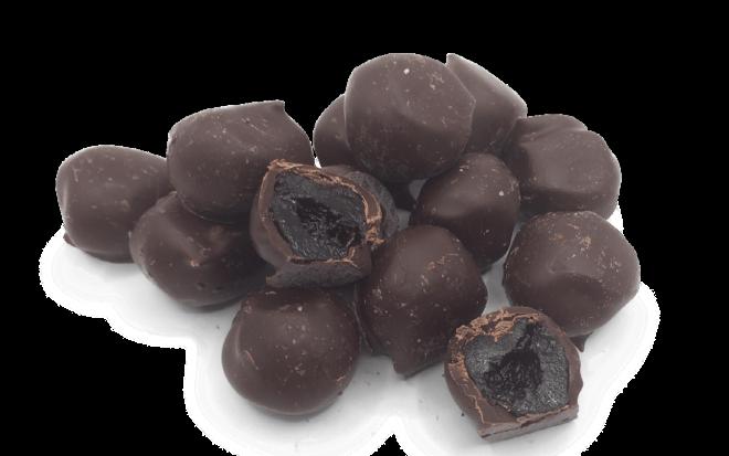 Amarenkirschen mit Zartbitterschokolade